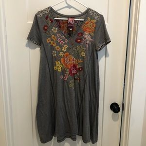 Johnny Was JWLA Embroidered Tunic Dress